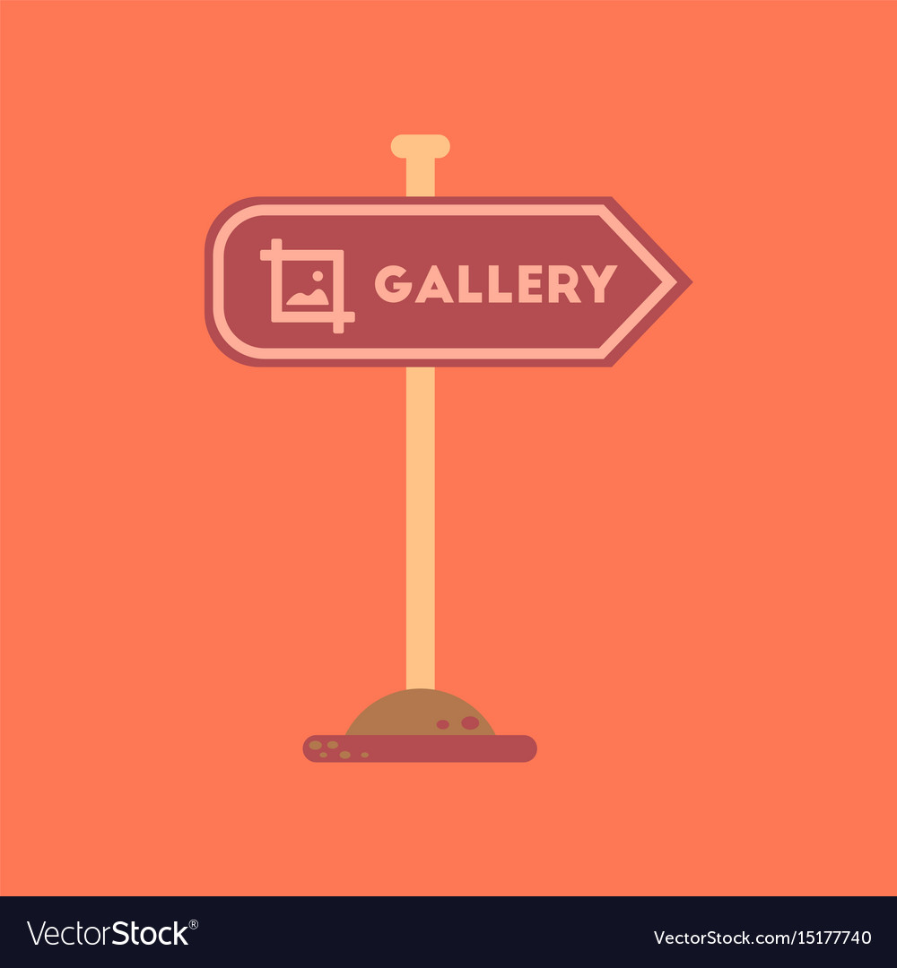 Flat icon on background sign gallery