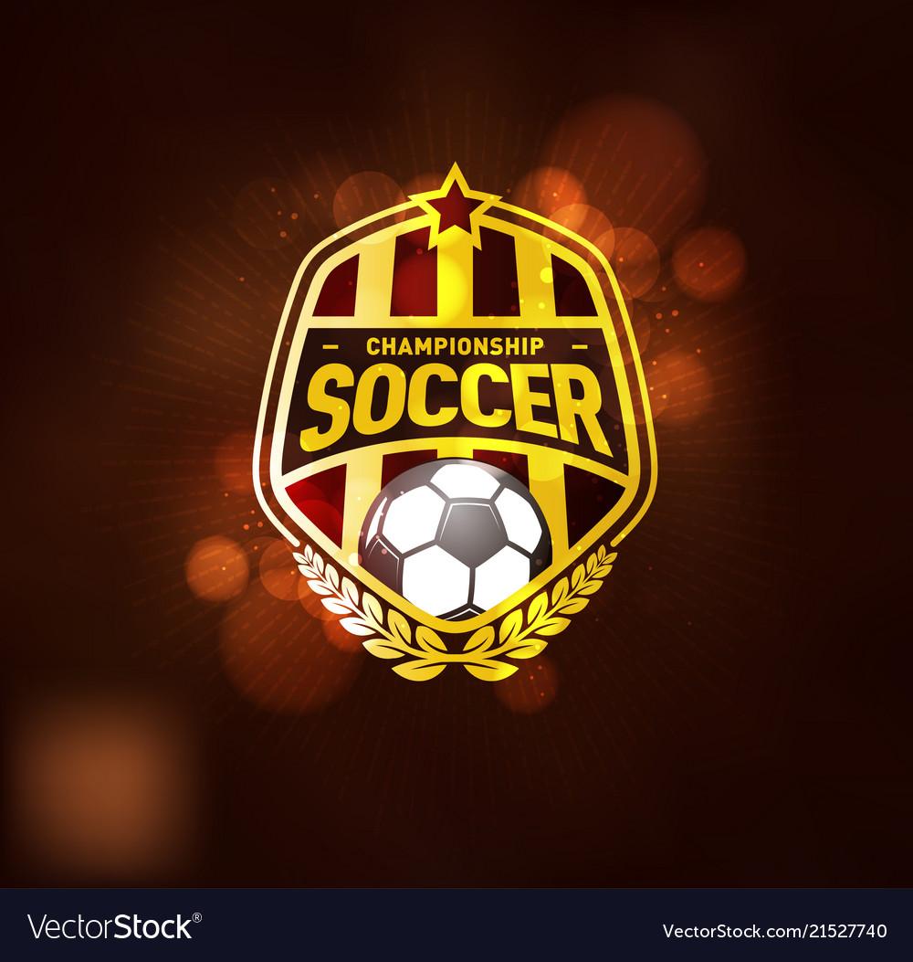Football soccer championship logo design template