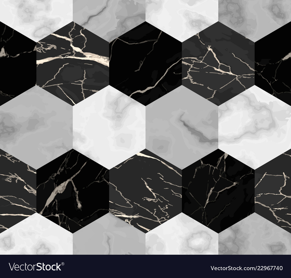 Marble luxury striped from hexagons seamless