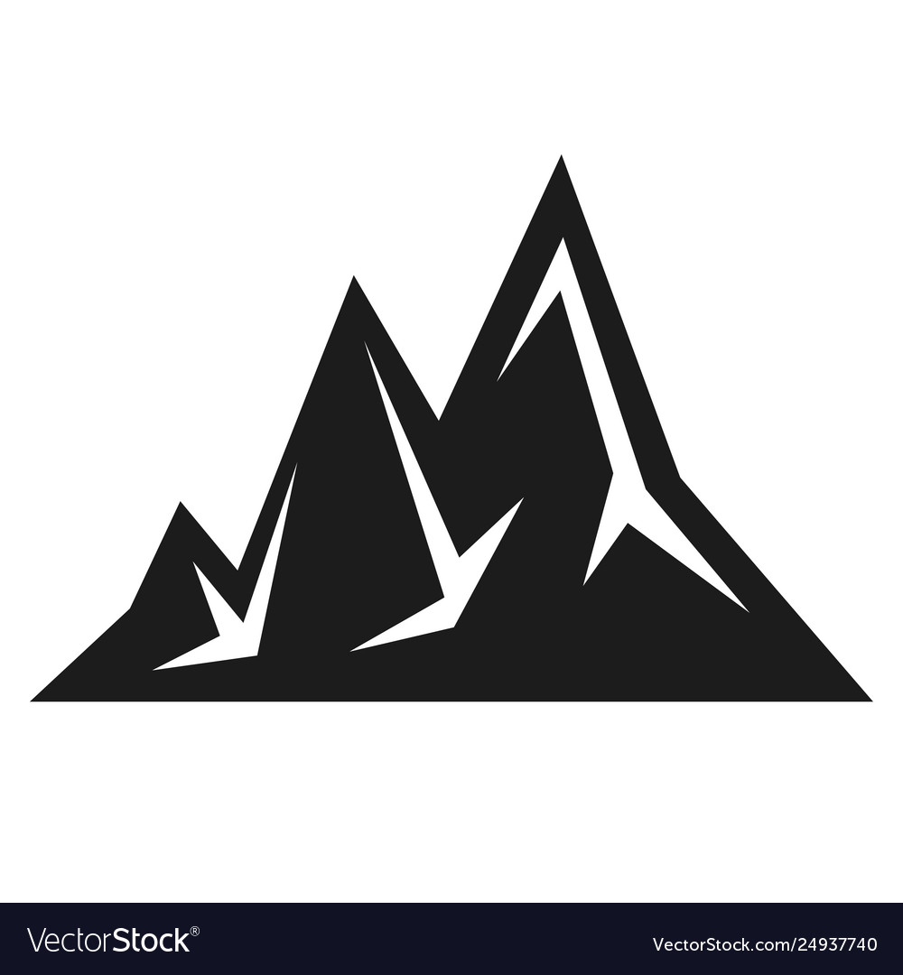 Mountain black icon scenery and expedition symbol