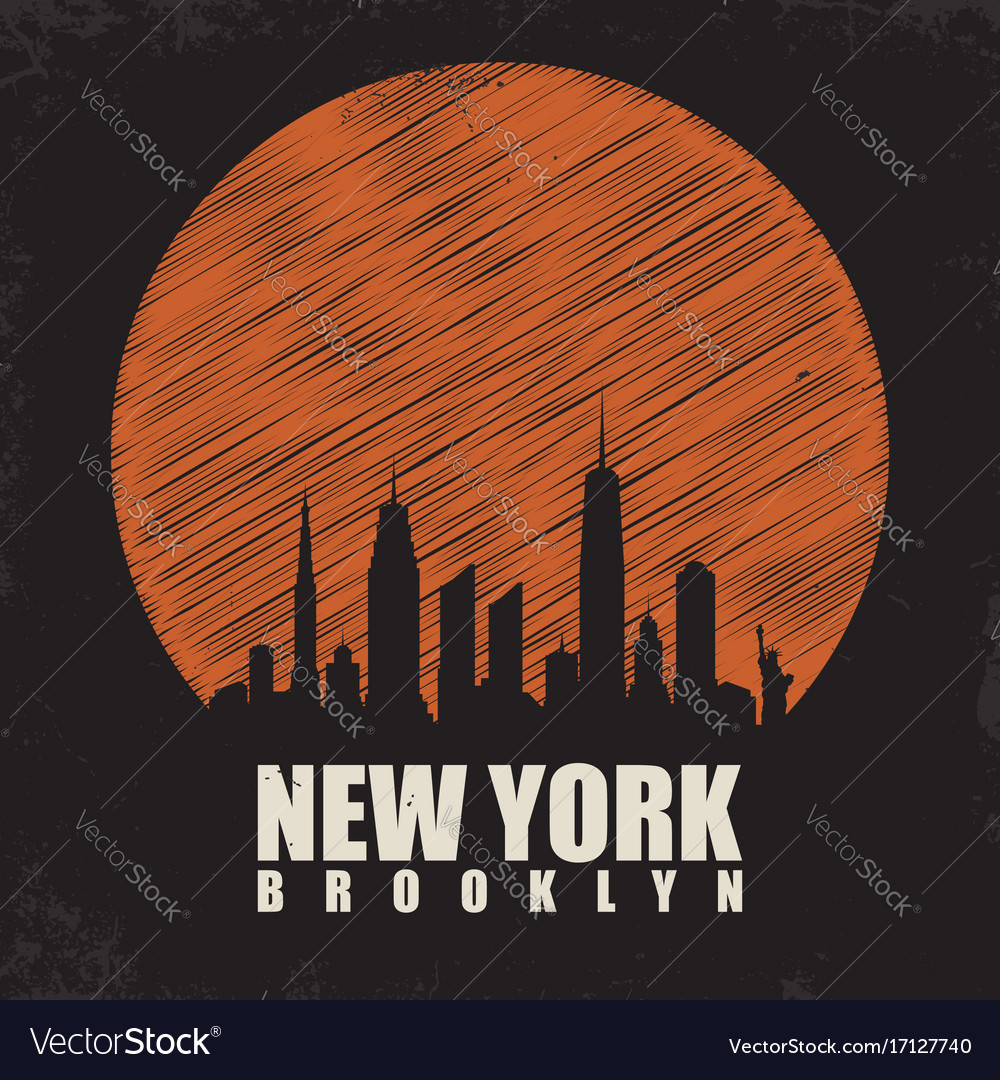 New york brooklyn typography for t shirt print t