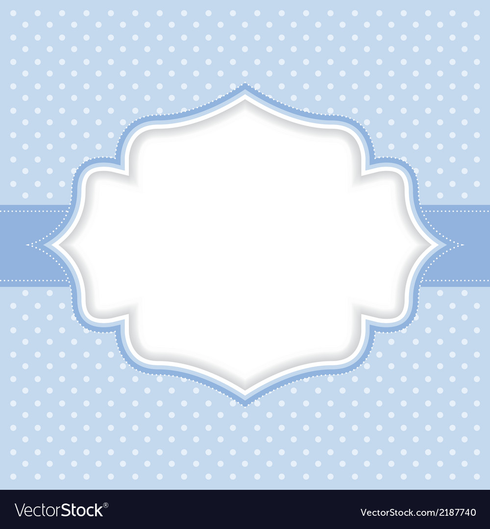 Polka dot frame Royalty Free Vector Image - VectorStock