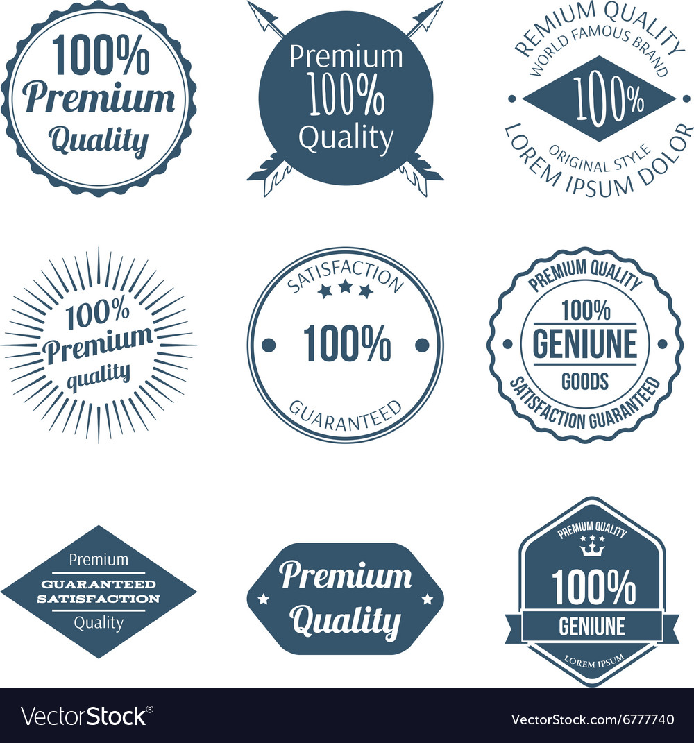 Set premium quality badges and labels design