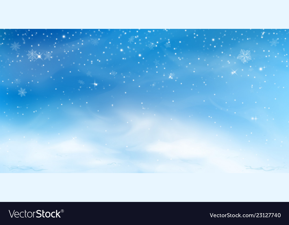 Snow winter background christmas sky landscape