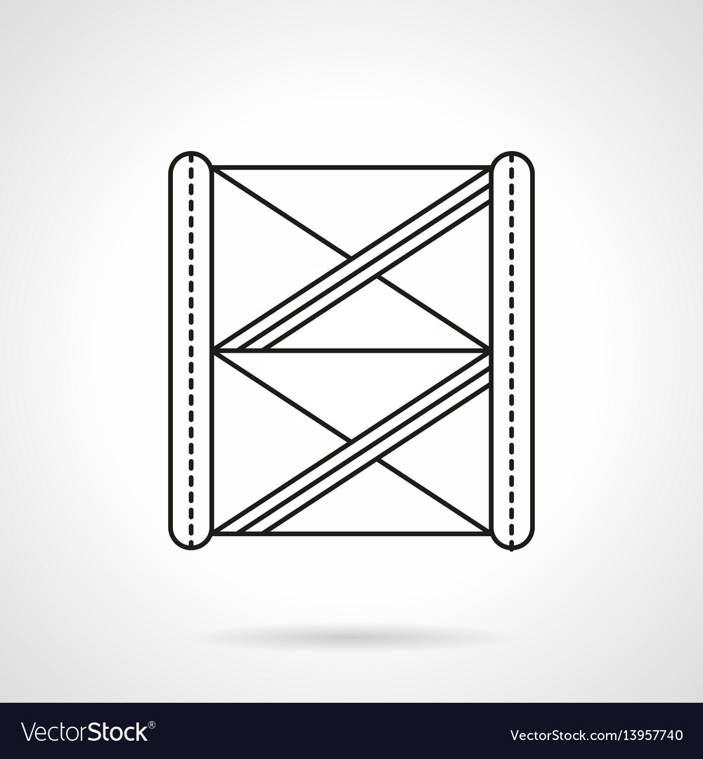 Stage construction flat line icon