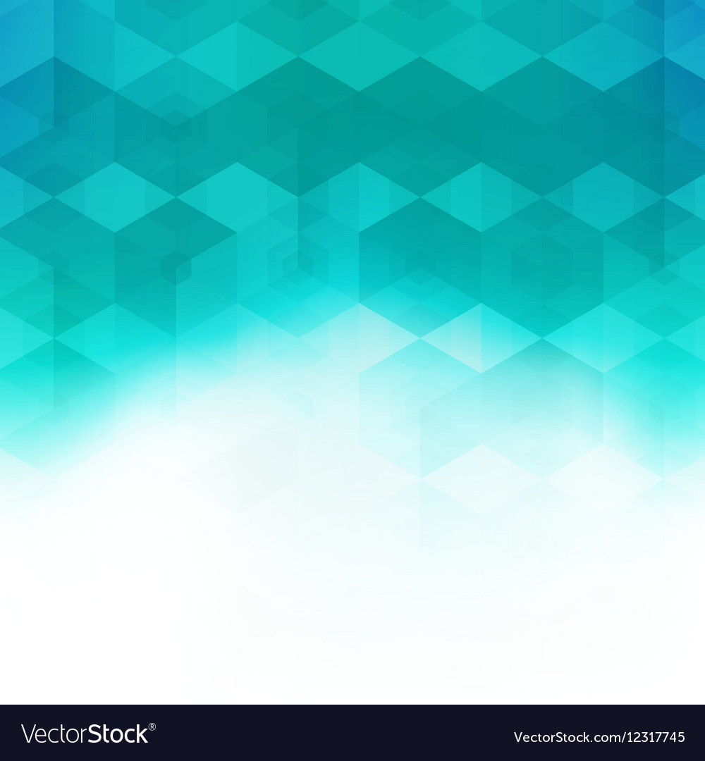 Abstract mosaic hexagonal geometric pattern vector image