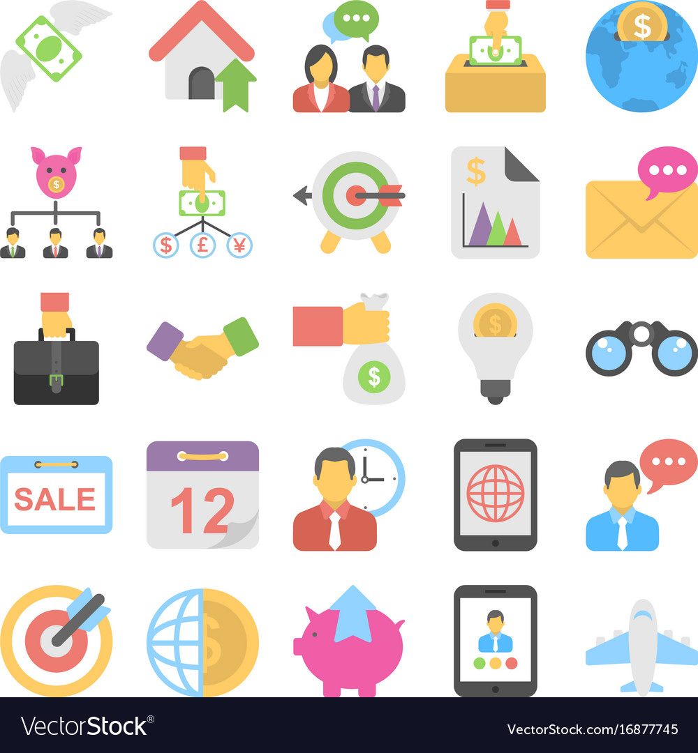 Banking and finance colored icons 7