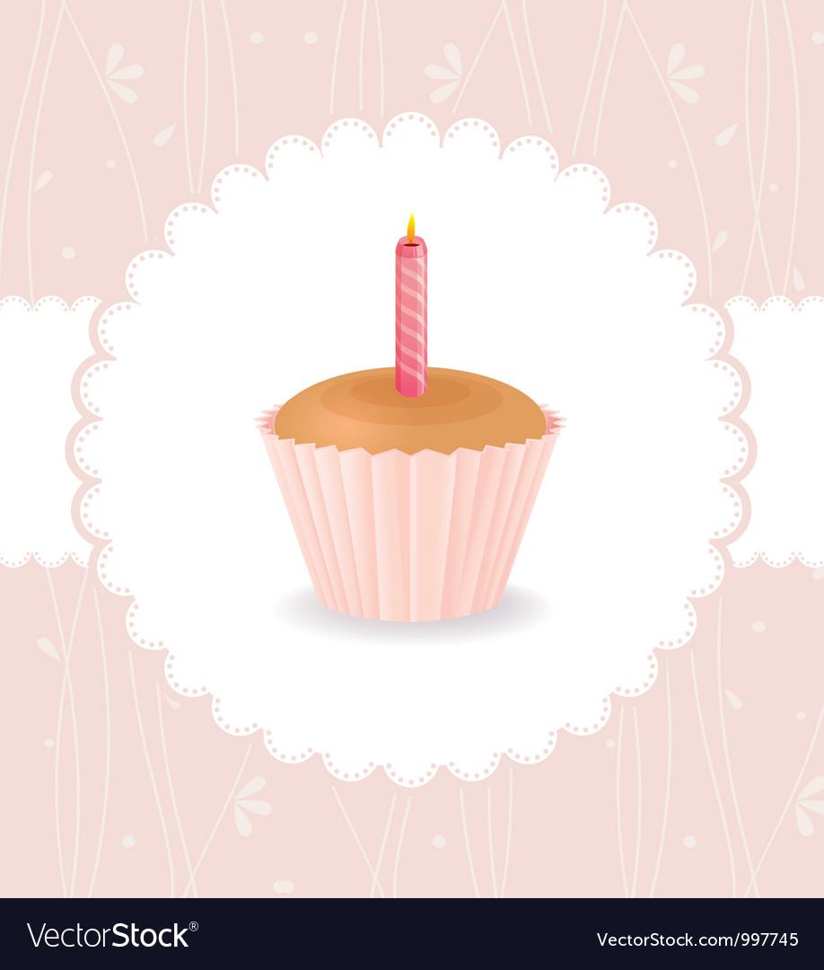 Cake birthday vector image