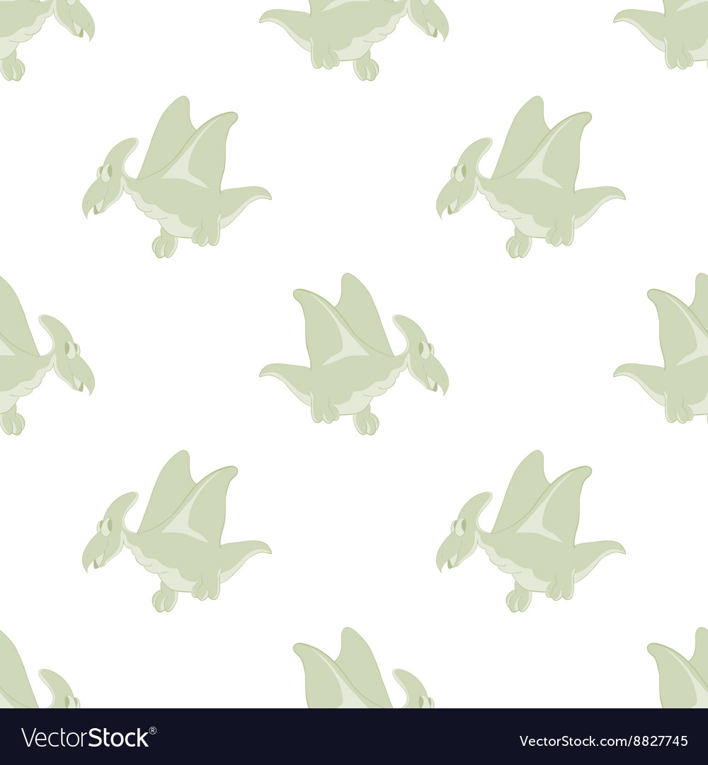 Flying dinosaurs on a white background