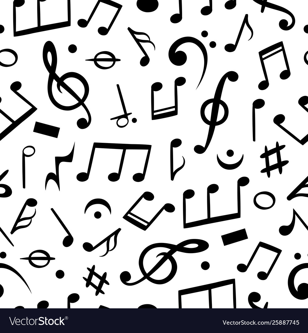 Music Notes Seamless Musical Note Pattern Textile