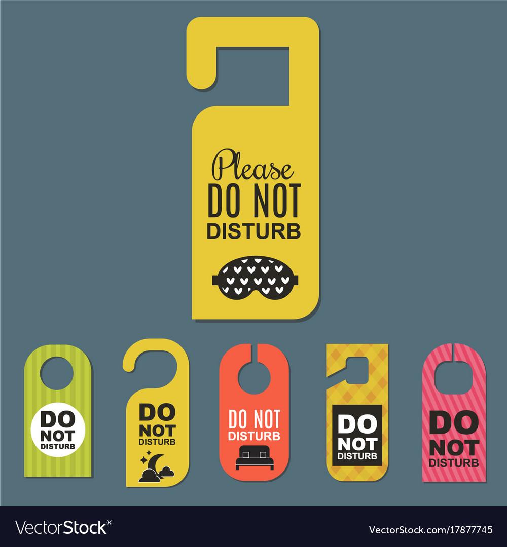 Please do not disturb hotel door quiet motel