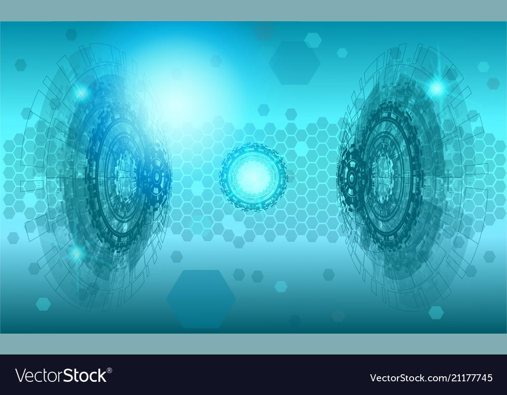 Science polygonal background futuristic hu