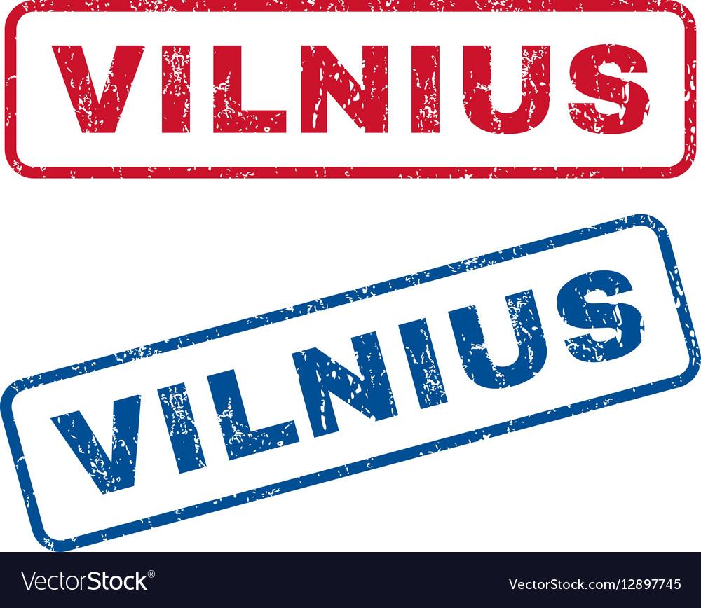 Vilnius Rubber Stamps vector image