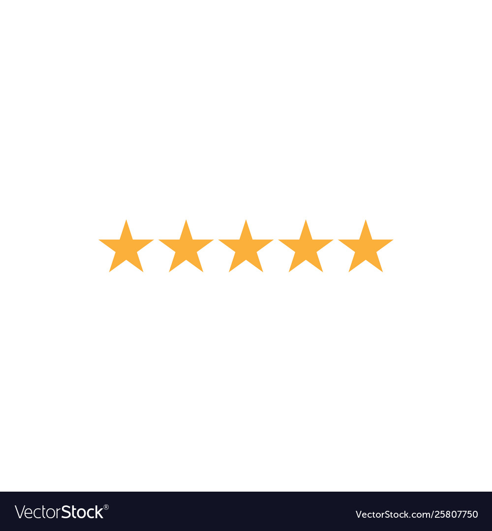 5 star rating icon graphic design template