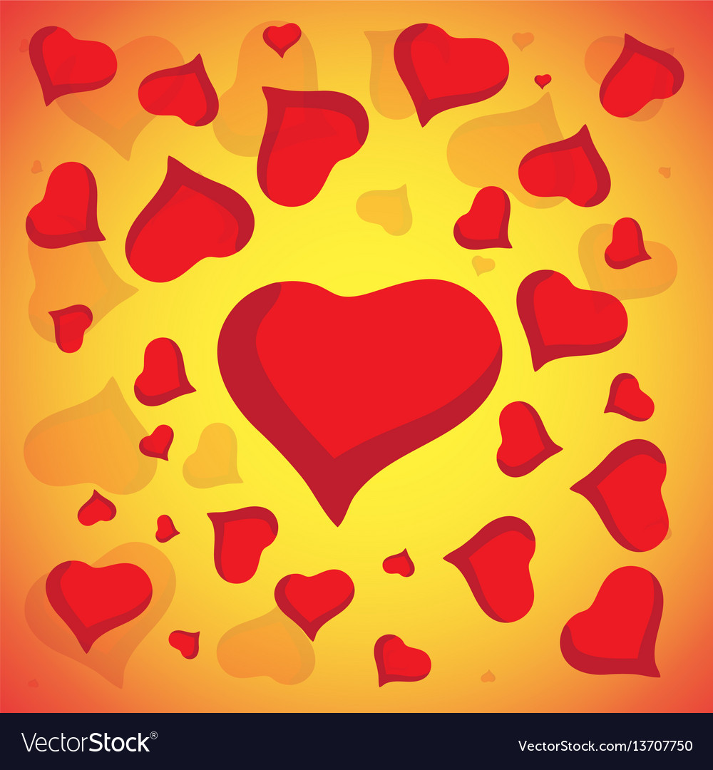 Abstract love background full of hearts