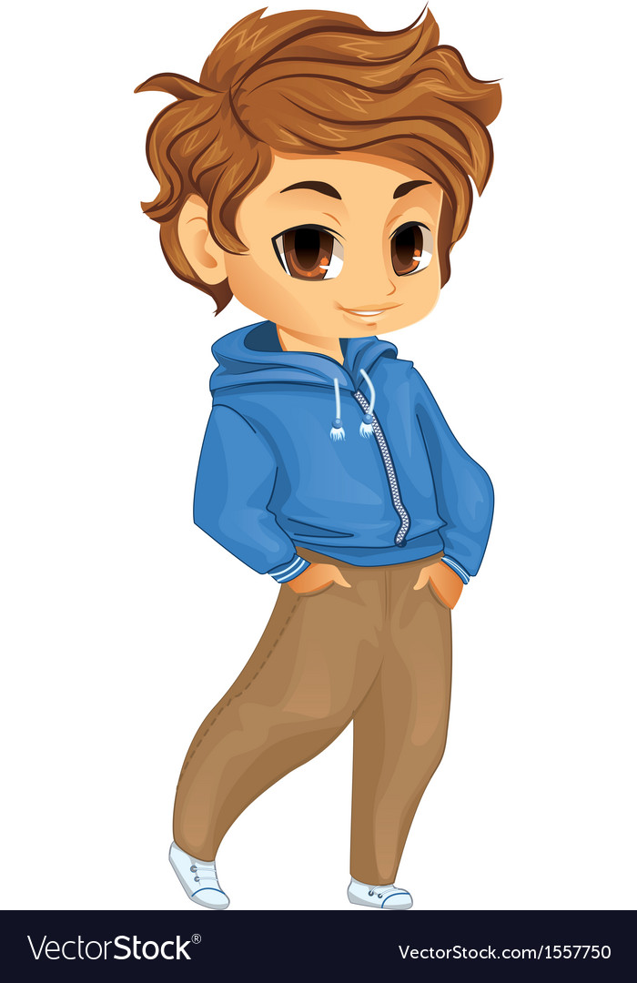 Cute little boy vector image