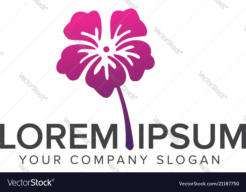 Flower Logo Cosmetics And Beauty Logo Design Vector Image