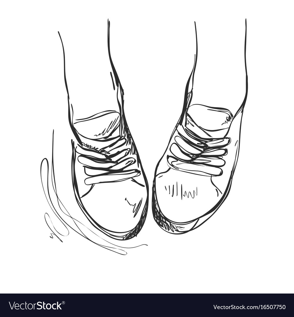 Hand drawn sneakers casual shoes