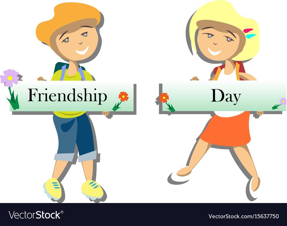 Happy friends enjoying friendship day
