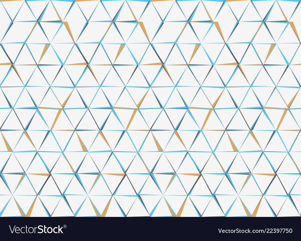 Hexagons and triangles seamless pattern