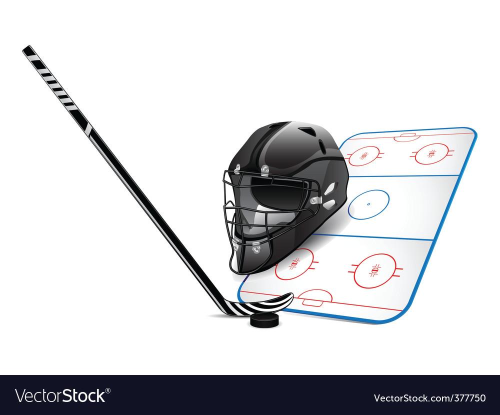 Hockey design elements vector image
