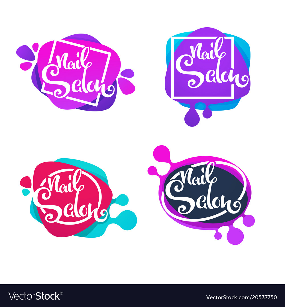 Logo Template For Your Nail Studio And Manicure Vector Image