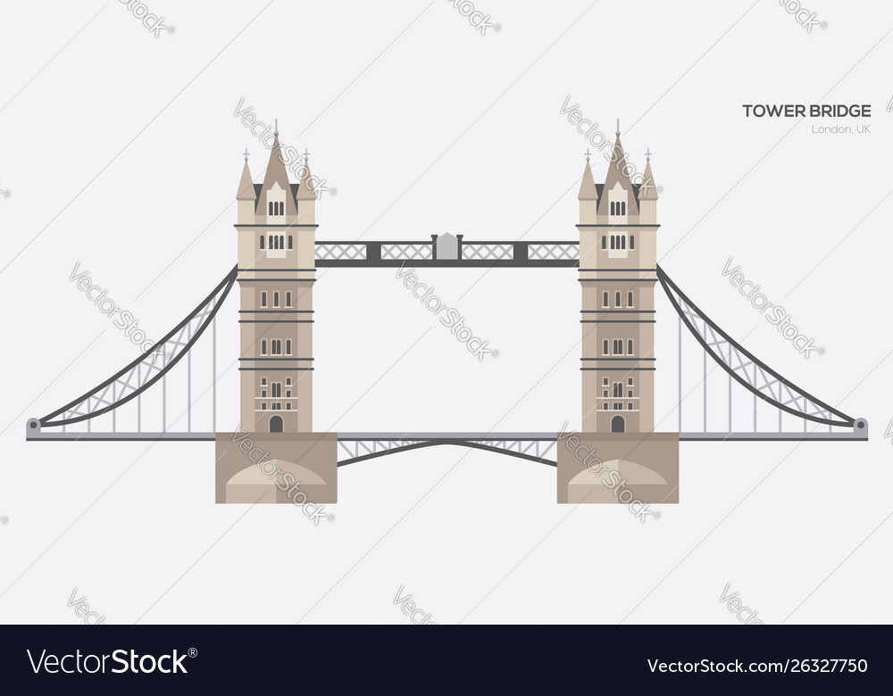 London tower bridge flat