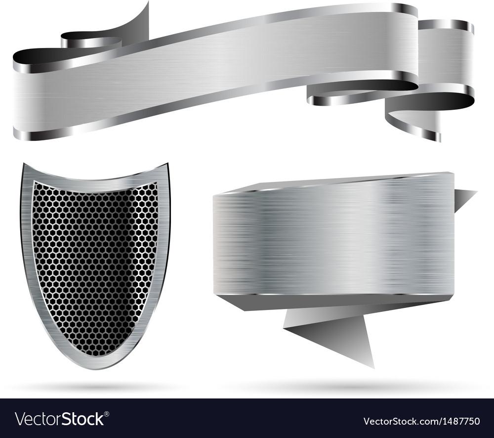 Metal set vector image