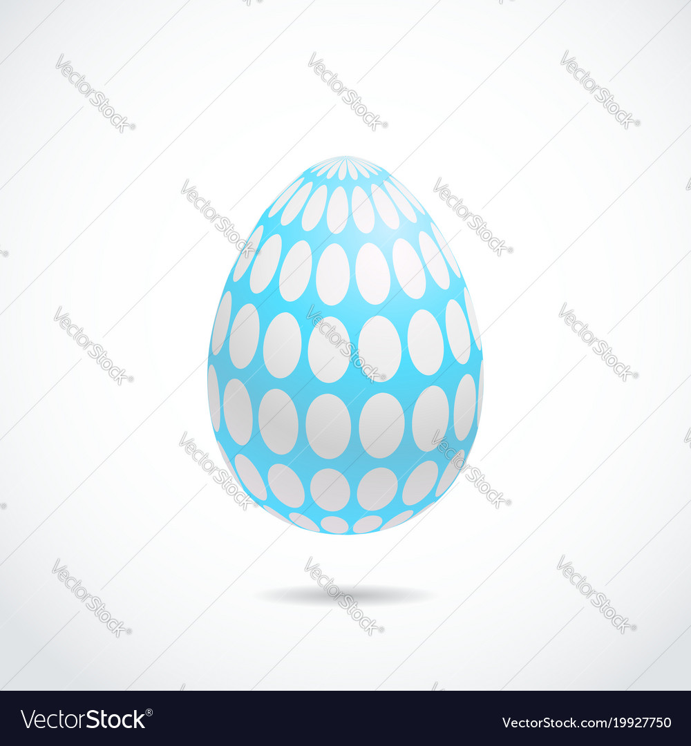 Realistic 3d easter egg