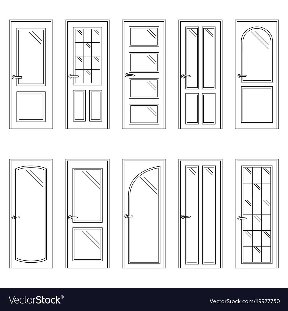 Set of contours of doors