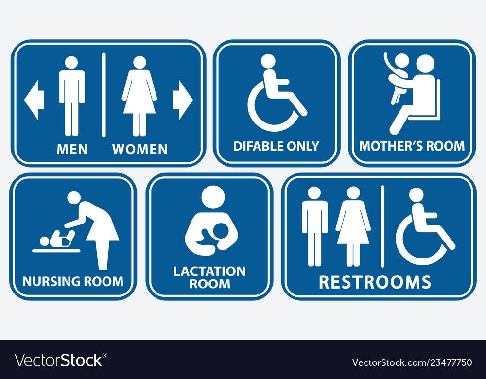 Set restroom nursing room lactation room