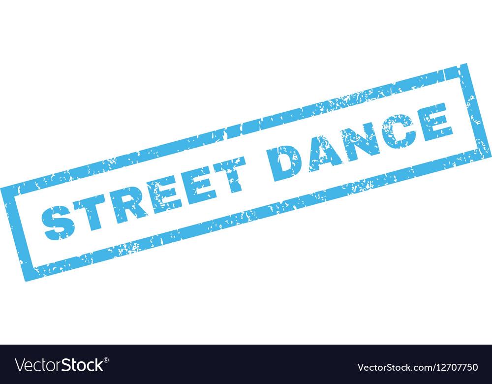 Street Dance Rubber Stamp