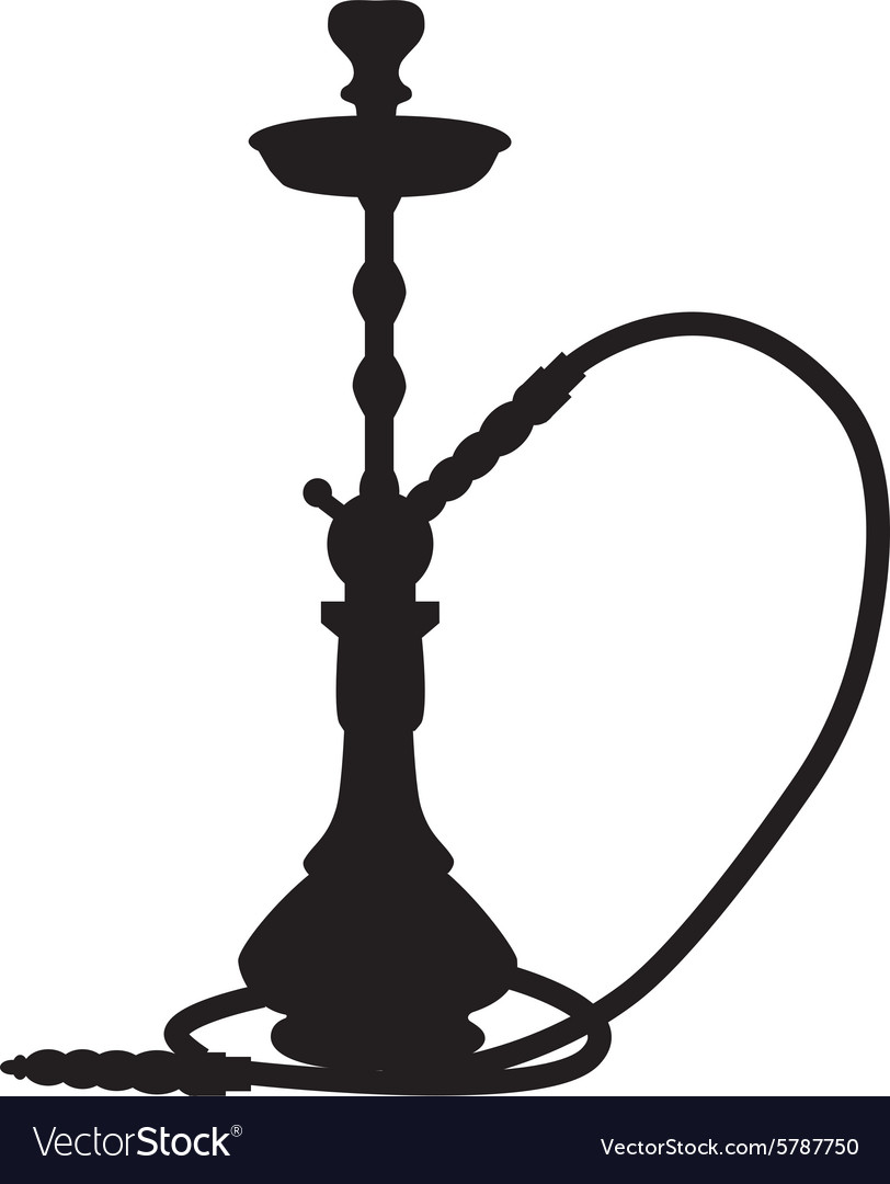 Waterpipe silhouette