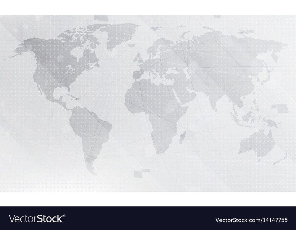 Abstract light grey world map background digital vector image gumiabroncs Image collections