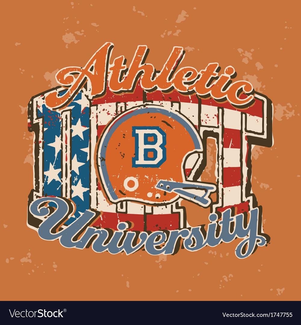 American football university athletic department