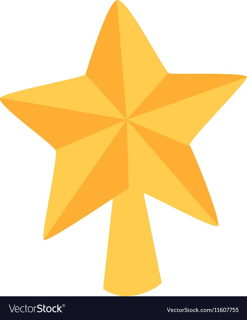 Christmas star tree symbol