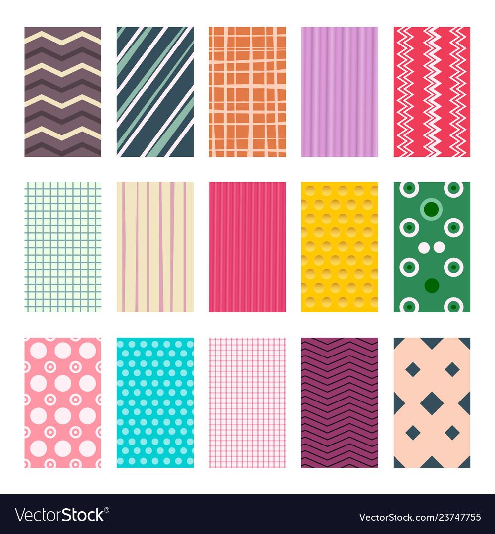 Colorful retro geometric textile or paper