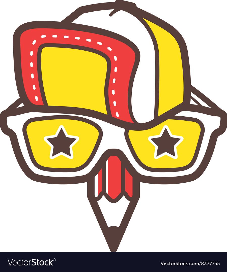 Creative designer logo geek avatar icon