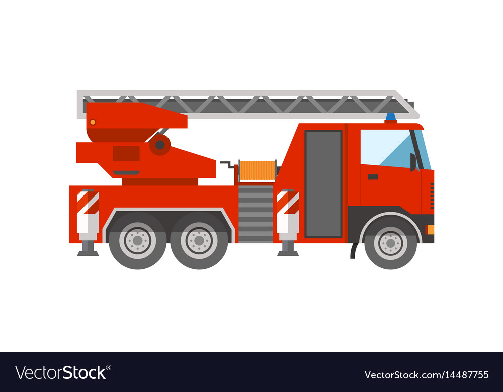 Firetruck emergency vehicle rescue ladder