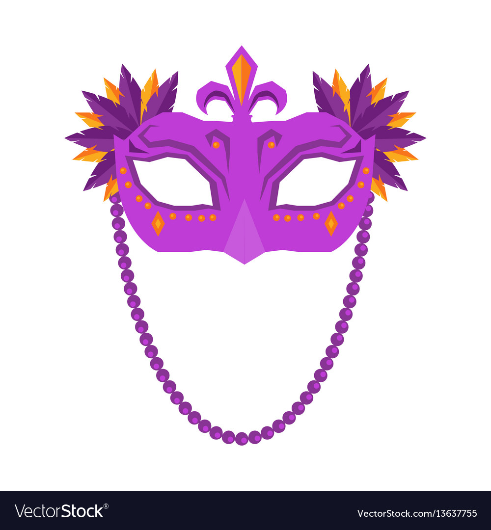 Mardi gras mask isolated on white background