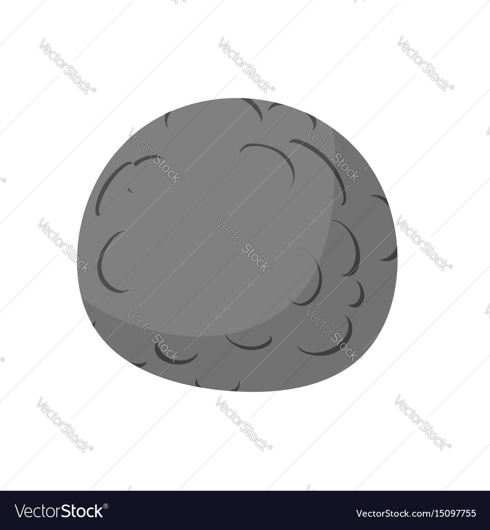 Mercury isolated cartoon style black planet of vector image
