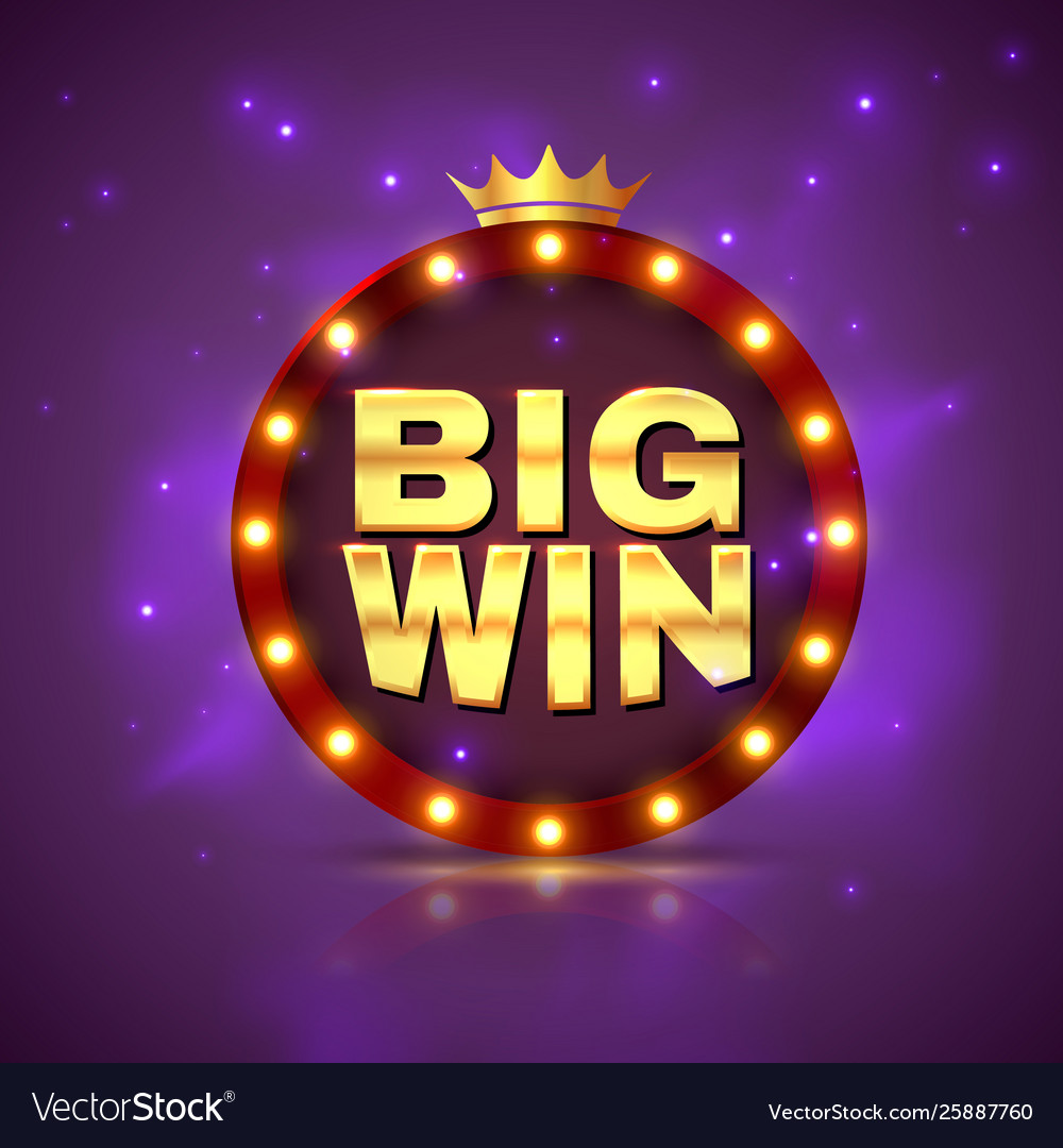 Big win prize label winning game lottery poster