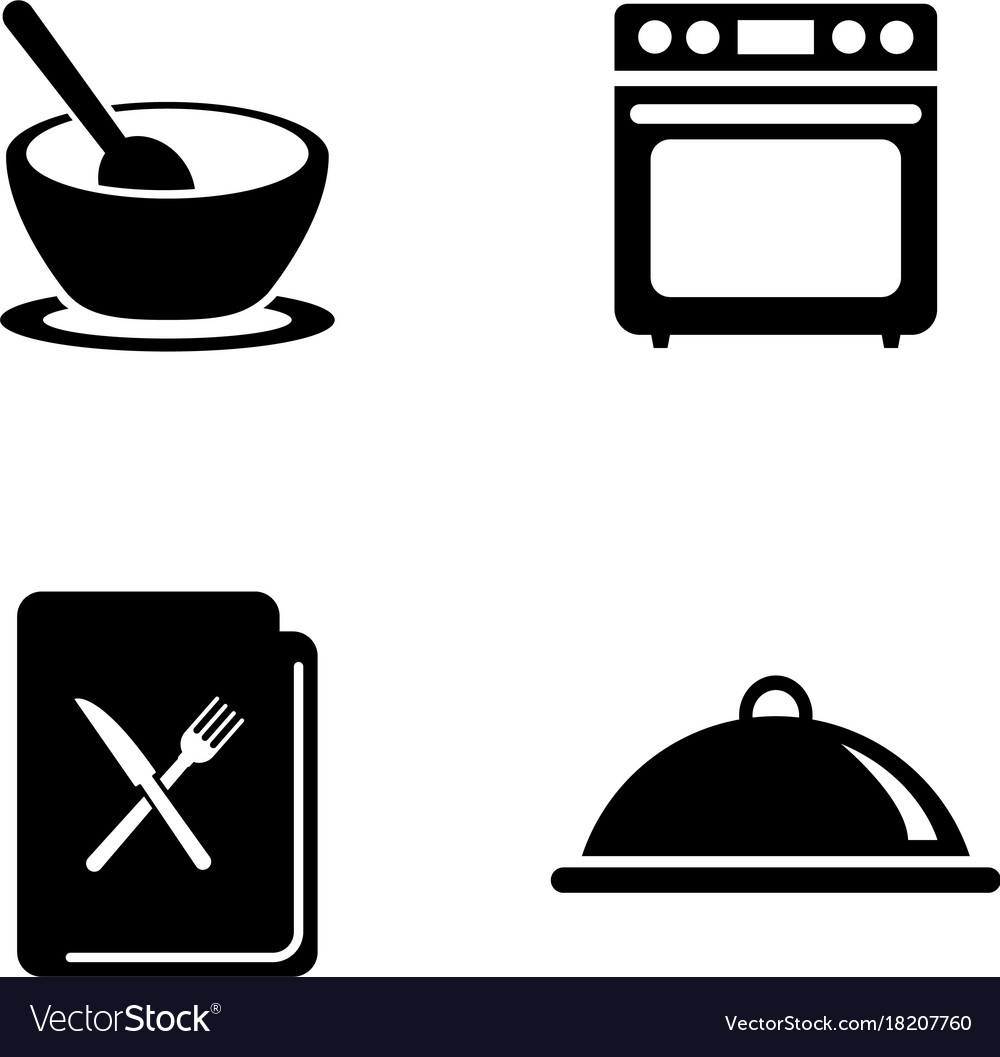Cooking simple related icons