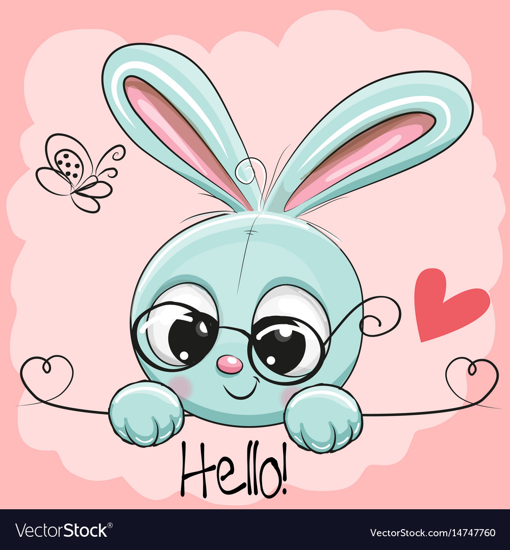 Cute Drawings: Cute Drawing Rabbit Royalty Free Vector Image