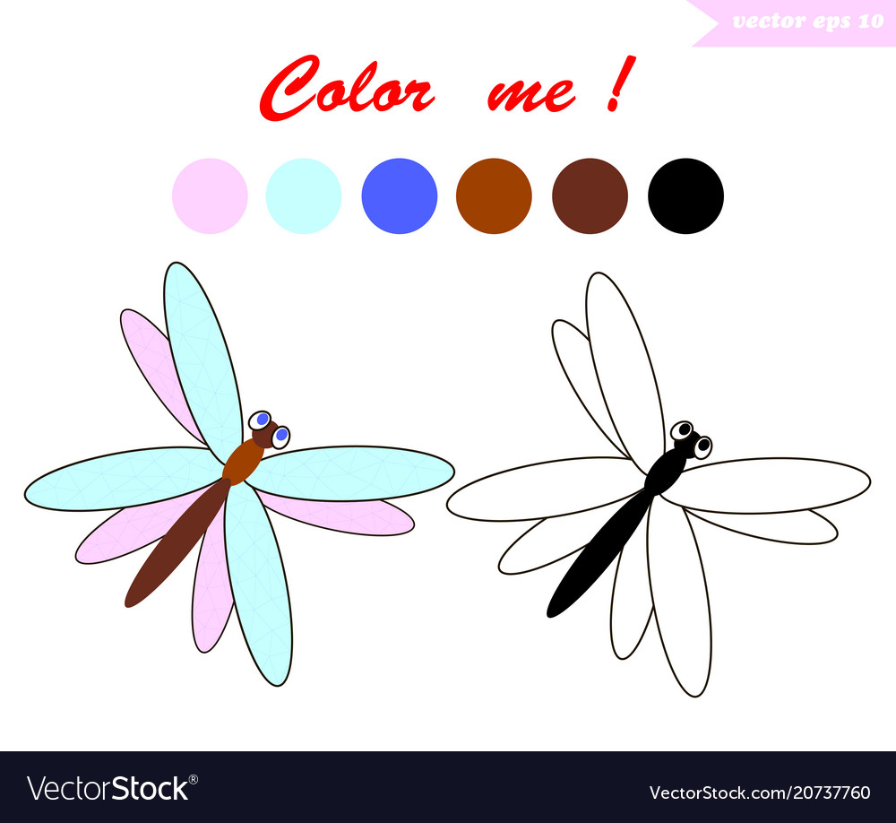 Dragnfly for coloring book