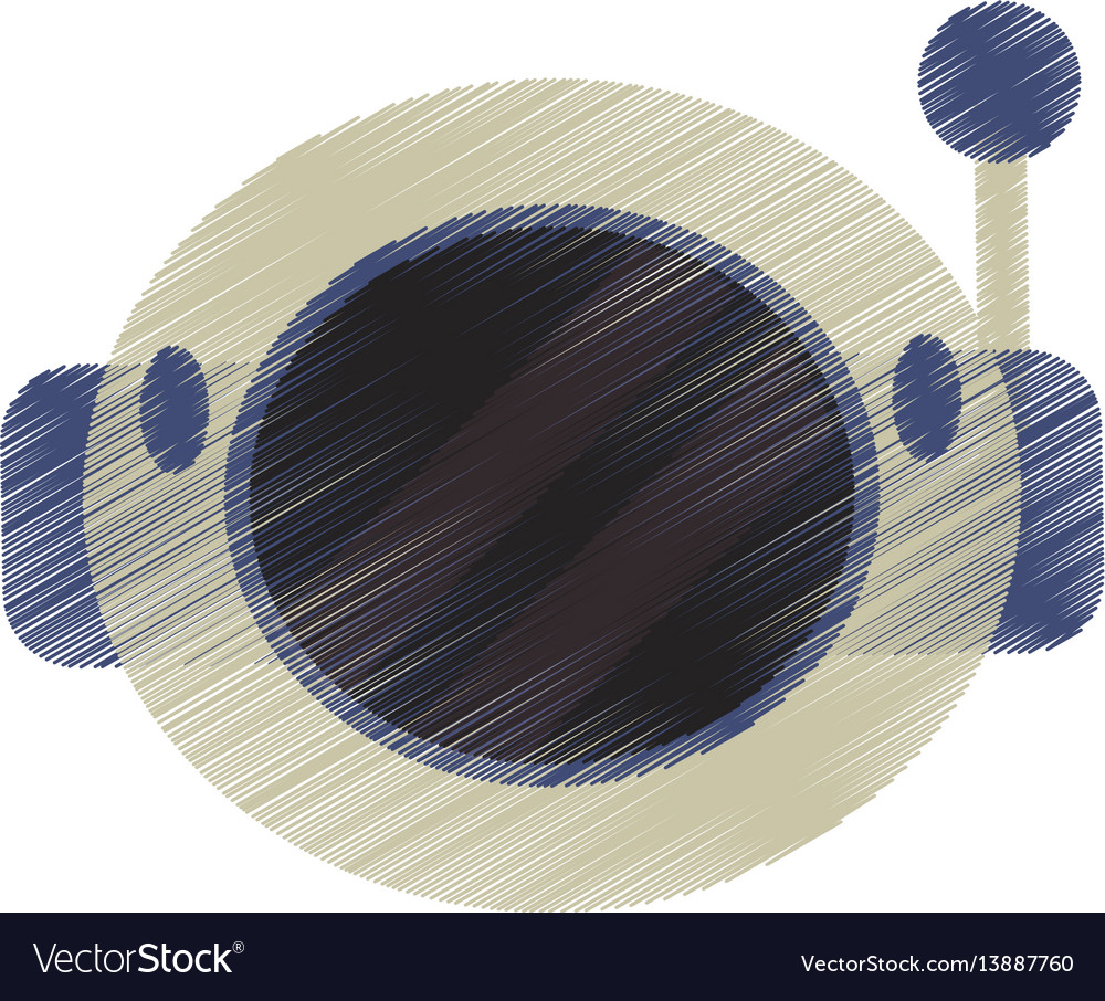 Drawing helmet astronaut space vector image