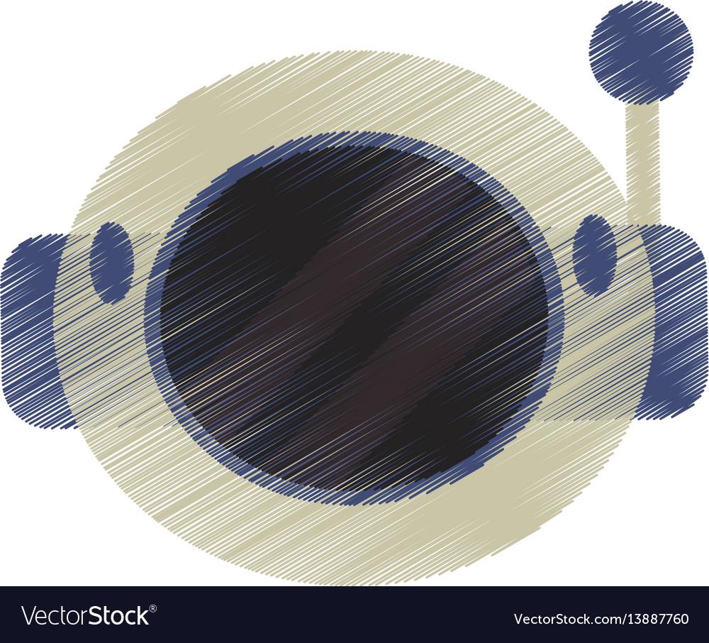 Drawing helmet astronaut space