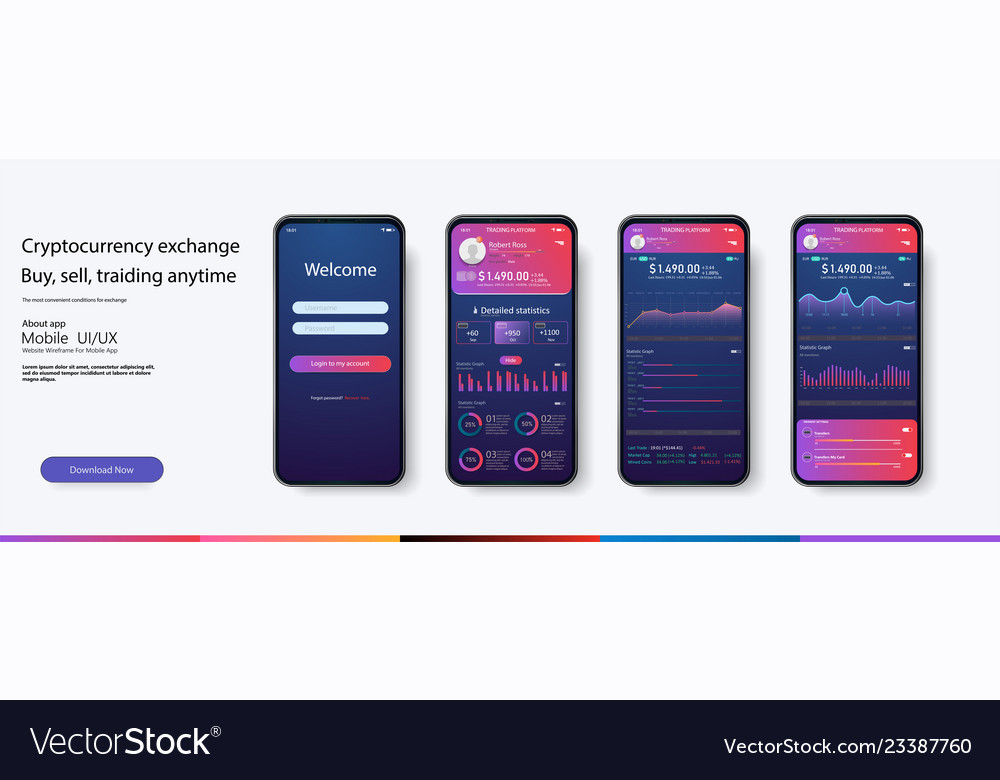Mobile app infographic template with