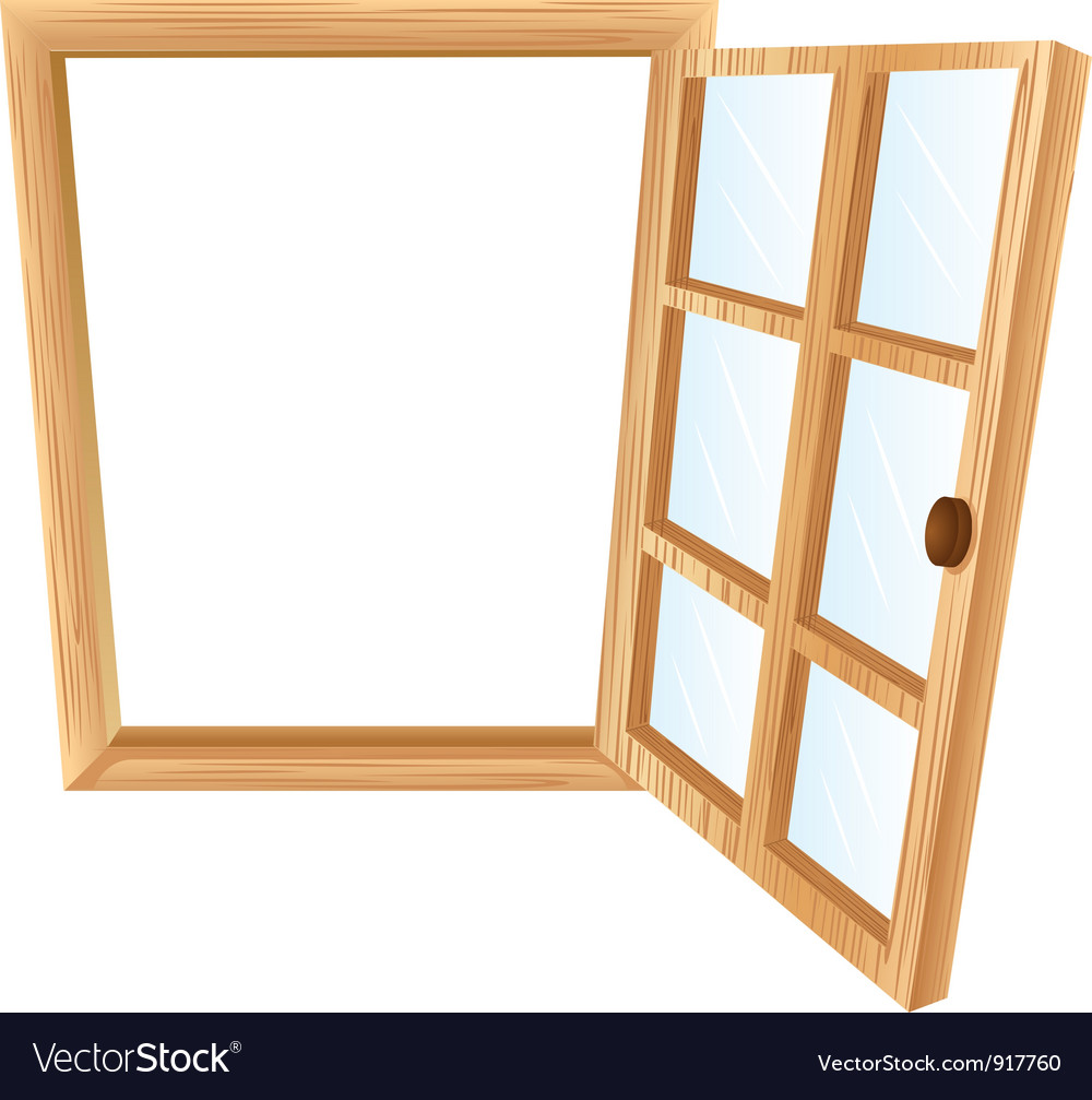 Single window frame Royalty Free Vector Image - VectorStock