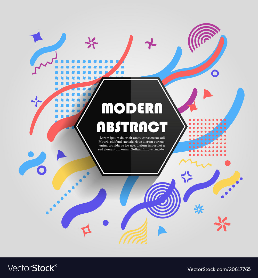 Abstract colorful geometric pattern design